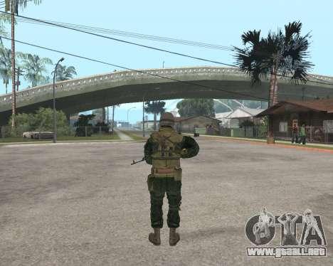 Ejército ruso Skin Pack para GTA San Andreas quinta pantalla