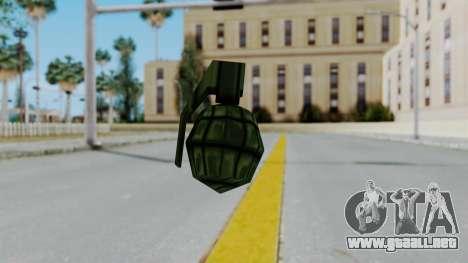GTA 3 Grenade para GTA San Andreas