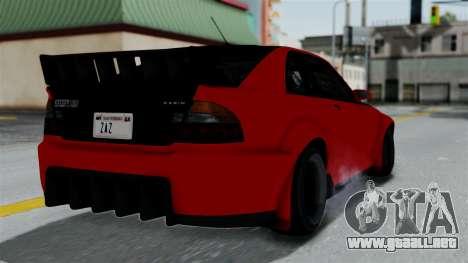 GTA 5 Karin Sultan RS Rally para GTA San Andreas left