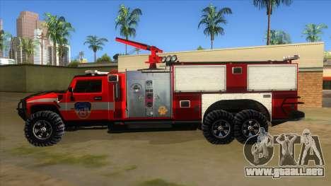 HUMMER H2 Firetruck para GTA San Andreas left