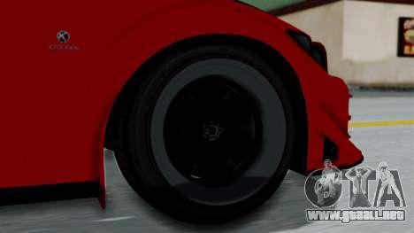 GTA 5 Karin Sultan RS Rally para GTA San Andreas vista posterior izquierda