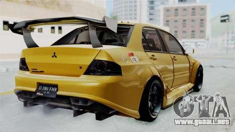 Mitsubishi Lancer Evolution IX MR Edition para GTA San Andreas left