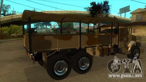 GTA V HVY Barracks OL para la visión correcta GTA San Andreas