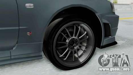 Nissan Skyline GT-R R34 2002 F&F4 para la visión correcta GTA San Andreas