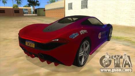 GTA 5 Progen T20 Styled version para la visión correcta GTA San Andreas
