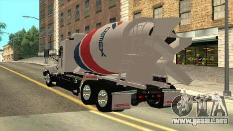 Kenworth T600 Camión De Cemento para GTA San Andreas left