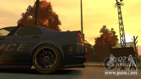 Albany Police Stinger para GTA 4 vista hacia atrás