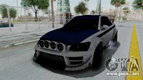 GTA 5 Karin Sultan RS Rally PJ para la vista superior GTA San Andreas