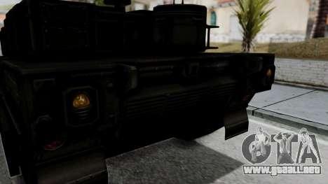 Point Blank Black Panther Woodland IVF para GTA San Andreas vista hacia atrás