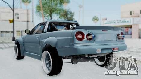 Nissan Skyline R34 PickUp para GTA San Andreas left