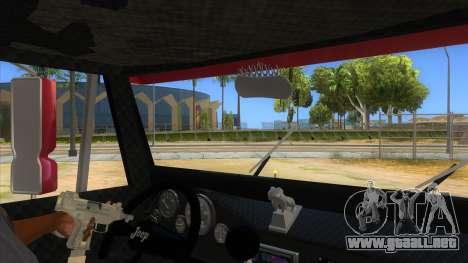 Jeep Pick Up Stylo Colombia para visión interna GTA San Andreas