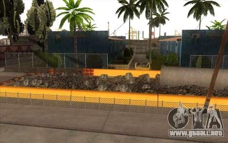 El trabajo de reparación de la Calle Grove para GTA San Andreas segunda pantalla