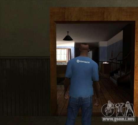 T-Shirt De VKontakte para GTA San Andreas segunda pantalla