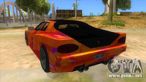 GTA 3 Cheetah ZTR para GTA San Andreas vista posterior izquierda