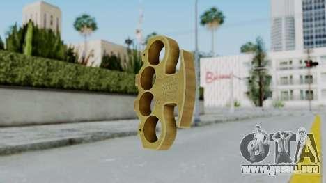 The King Knuckle Dusters from Ill GG Part 2 para GTA San Andreas segunda pantalla