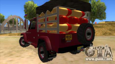 Jeep Pick Up Stylo Colombia para GTA San Andreas