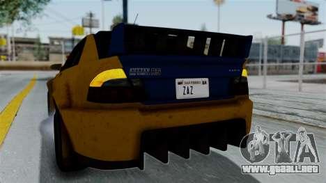 GTA 5 Karin Sultan RS Rally PJ para vista lateral GTA San Andreas