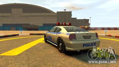 Bravado Buffalo Police Patrol [original wheels] para GTA 4 Vista posterior izquierda
