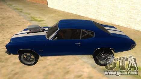 1970 Chevrolet Chevelle SS Drag para GTA San Andreas left