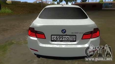 BMW 530XD F10 para la visión correcta GTA San Andreas