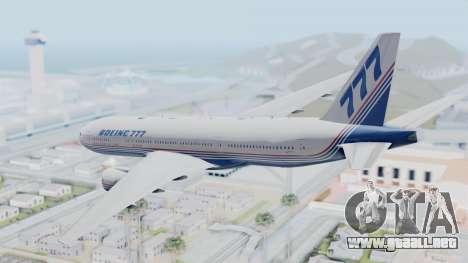 Boeing 777-200 Prototype para la visión correcta GTA San Andreas