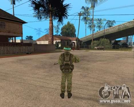 Ejército ruso Skin Pack para GTA San Andreas tercera pantalla