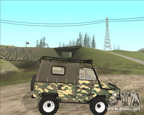 969М LuAZ Fuera de la Carretera para GTA San Andreas left