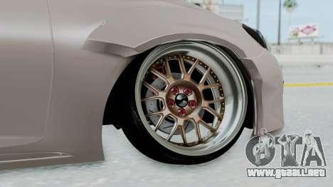 Toyota Mark X Slammed para GTA San Andreas vista posterior izquierda