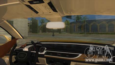 Audi A6 2012 para visión interna GTA San Andreas