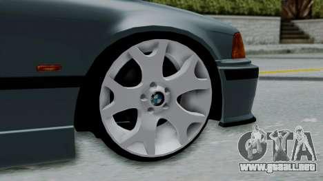 BMW 320 E36 Coupe para GTA San Andreas vista posterior izquierda