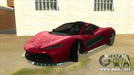 GTA 5 Progen T20 Lights version para vista lateral GTA San Andreas