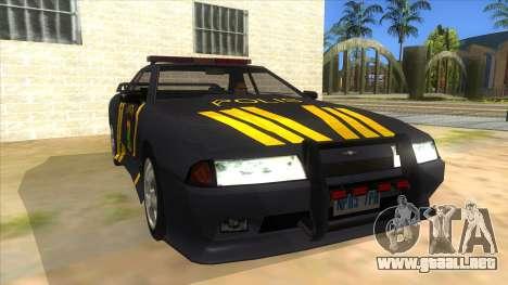 Elegy NR32 Police Edition Grey Patrol para GTA San Andreas vista hacia atrás