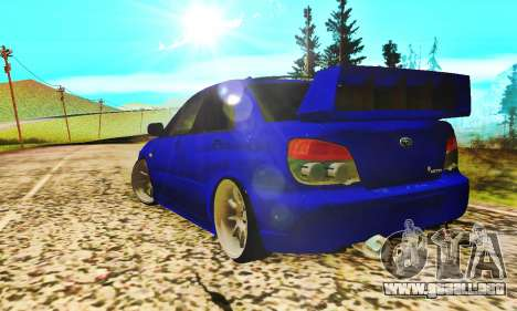 Subaru Impreza WRX STI Lisa para la visión correcta GTA San Andreas