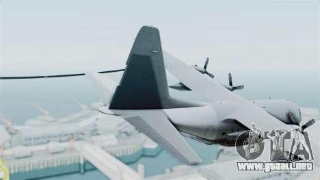KC-130 Air Tanker para GTA San Andreas vista posterior izquierda