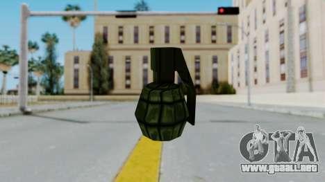 GTA 3 Grenade para GTA San Andreas segunda pantalla