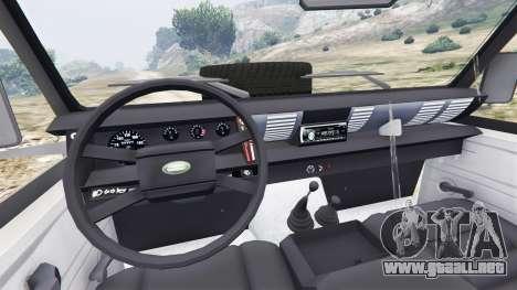 GTA 5 Land Rover Defender 110 Pickup vista lateral trasera derecha