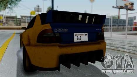 GTA 5 Karin Sultan RS Rally PJ para visión interna GTA San Andreas