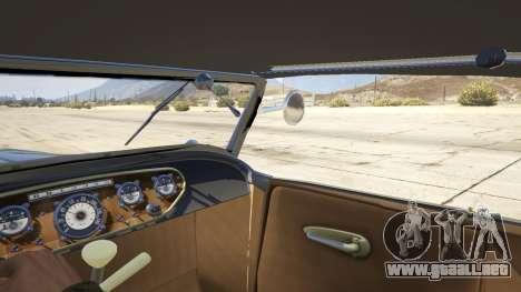 GTA 5 Ford T 1927 Roadster vista lateral trasera derecha