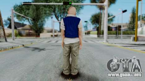 Bully Insanity Edition - Jimmy para GTA San Andreas tercera pantalla