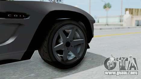 GTA 5 Coil Brawler Coupe IVF para GTA San Andreas vista posterior izquierda