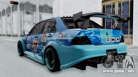 Mitsubishi Lancer Evolution IX MR Edition v2 para GTA San Andreas left