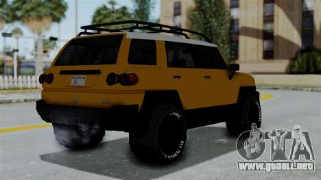 GTA 5 Karin Beejay XL Offroad para GTA San Andreas left