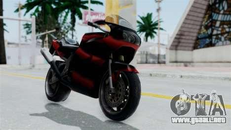 FCR-900 Custom para GTA San Andreas vista posterior izquierda