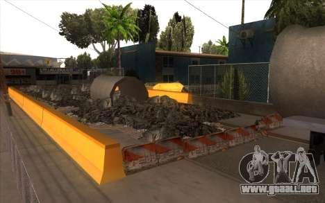 El trabajo de reparación de la Calle Grove para GTA San Andreas tercera pantalla