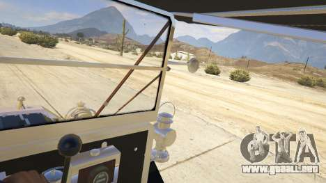 GTA 5 Ford T 1910 Passenger Open Touring Car vista lateral trasera derecha