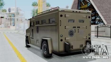 GTA 5 Brute Riot Police IVF para GTA San Andreas left
