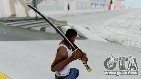 Samurai Sword v1 para GTA San Andreas tercera pantalla