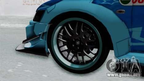 Mitsubishi Lancer Evolution IX MR Edition v2 para GTA San Andreas vista posterior izquierda