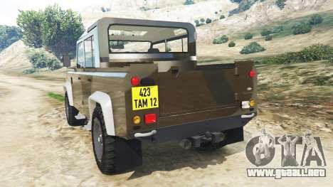 GTA 5 Land Rover Defender 110 Pickup vista lateral izquierda trasera