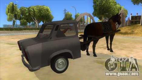 Trabant with Horse para la visión correcta GTA San Andreas